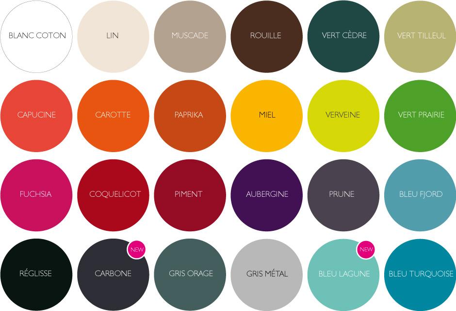 barevná škála Fermob