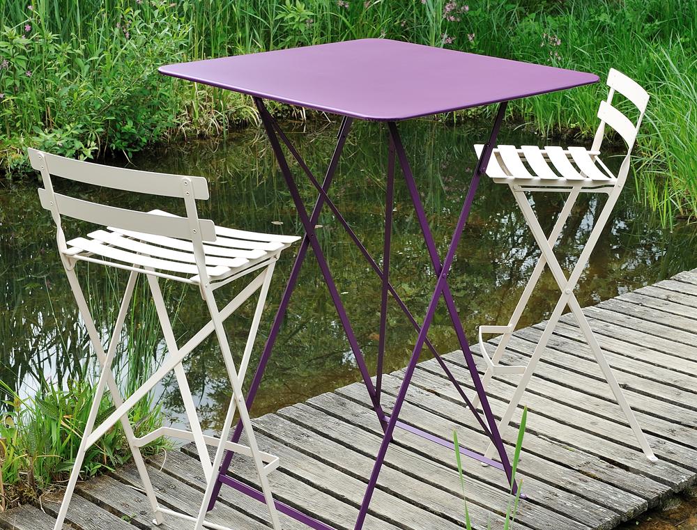 restaurační nábytek Fermob, Bistro, kovový stůl, židle